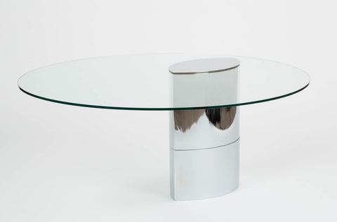 Lunario Glass Table by Cini Boeri for Knoll