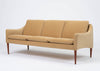 Hans Olsen Three Seat Sofa in Italian Mohair
