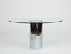Lunario Glass Dining Table by Cini Boeri for Knoll