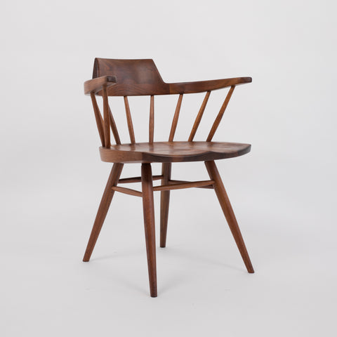 George Nakashima Captain Chair in Black Walnut