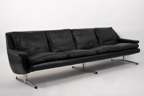 Four-Seat Leather Sofa by Georg Thams for Vejen Polstermøbelfabrik