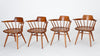 Set of Four Black Walnut Captain Chairs by George Nakashima Studio