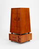 Custom-Made Teak Chest of Drawers with Sloped Sides