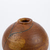 Kintsugi-Style Brown Glazed Weed Pot