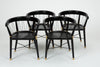 Single Ebonized Dining or Accent Chair with String