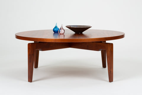 "Rotating ""Lazy Susan"" Coffee Table by Jens Risom"