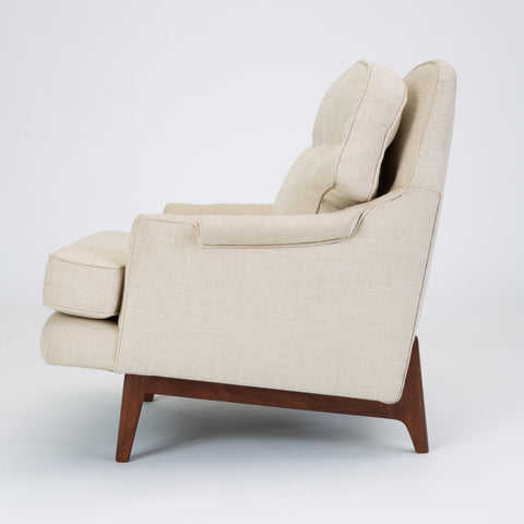 Lounge Chair with Bracket Base by Roger Sprunger for Dunbar