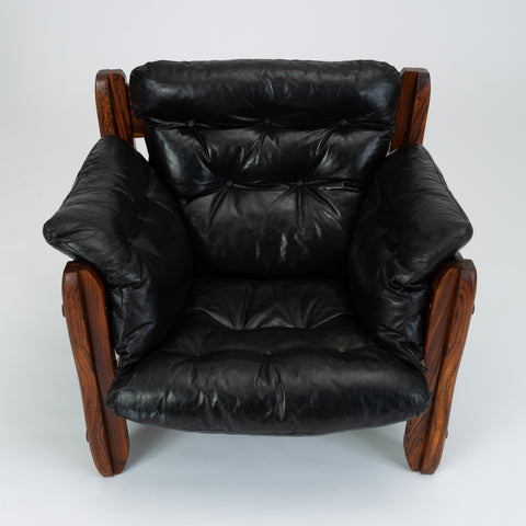 Descanso Lounge Chair by Don Shoemaker for Señal in Cueramo and Leather