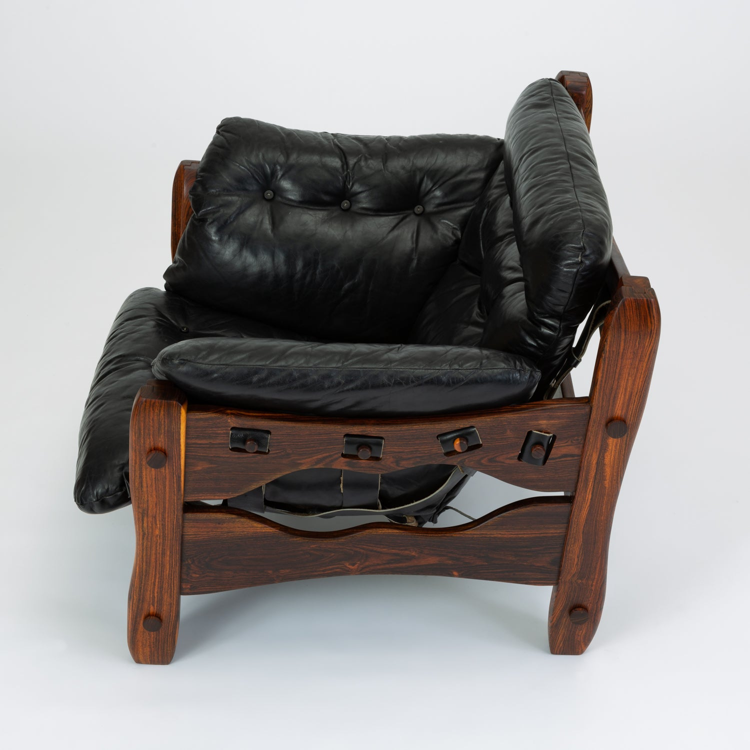 Antiques Don Shoemaker Descanso Lounge Chair Mid Century Latin Modernism Mexico Leather
