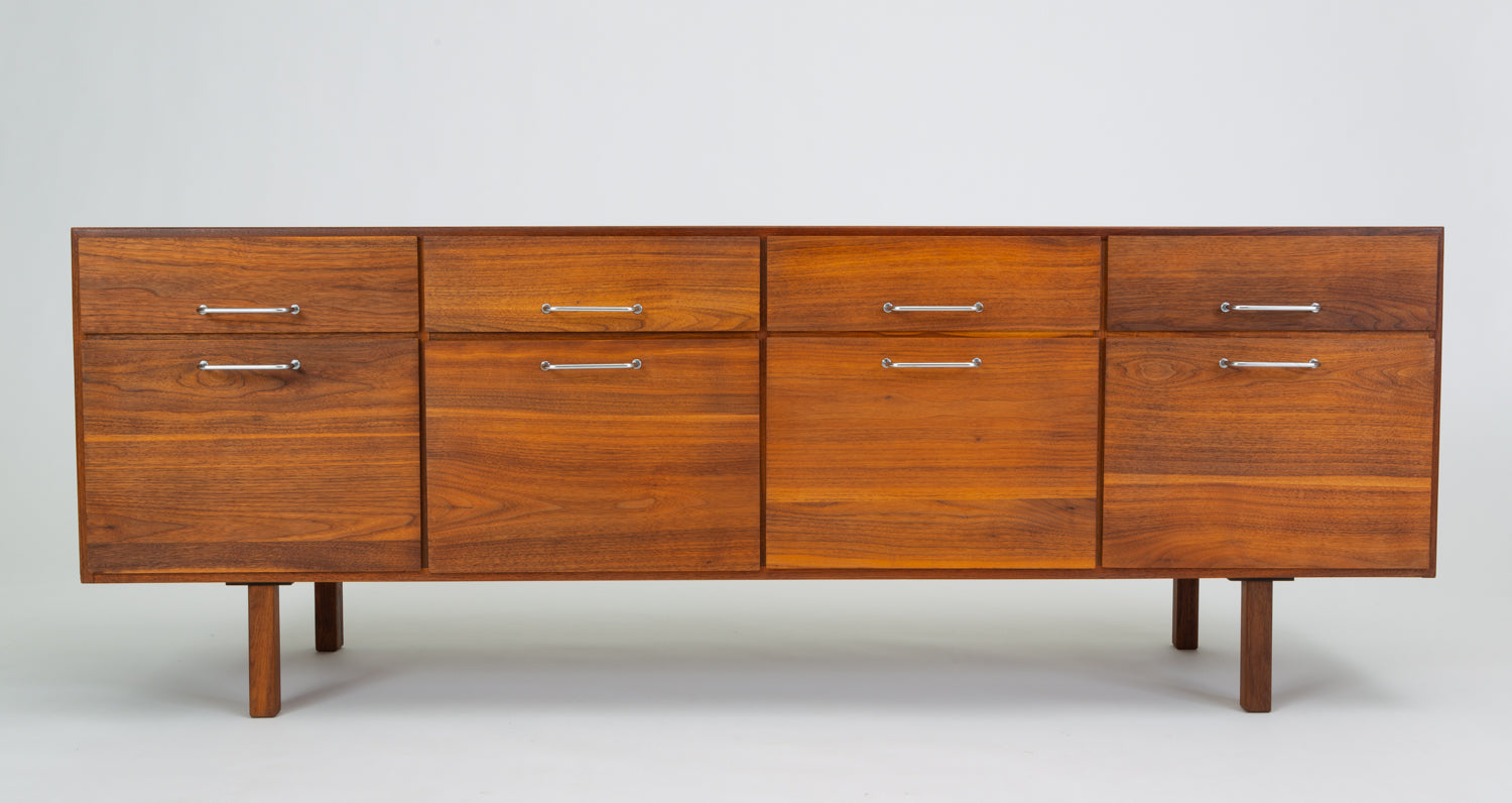 Jens Risom Eight-Drawer Walnut Credenza