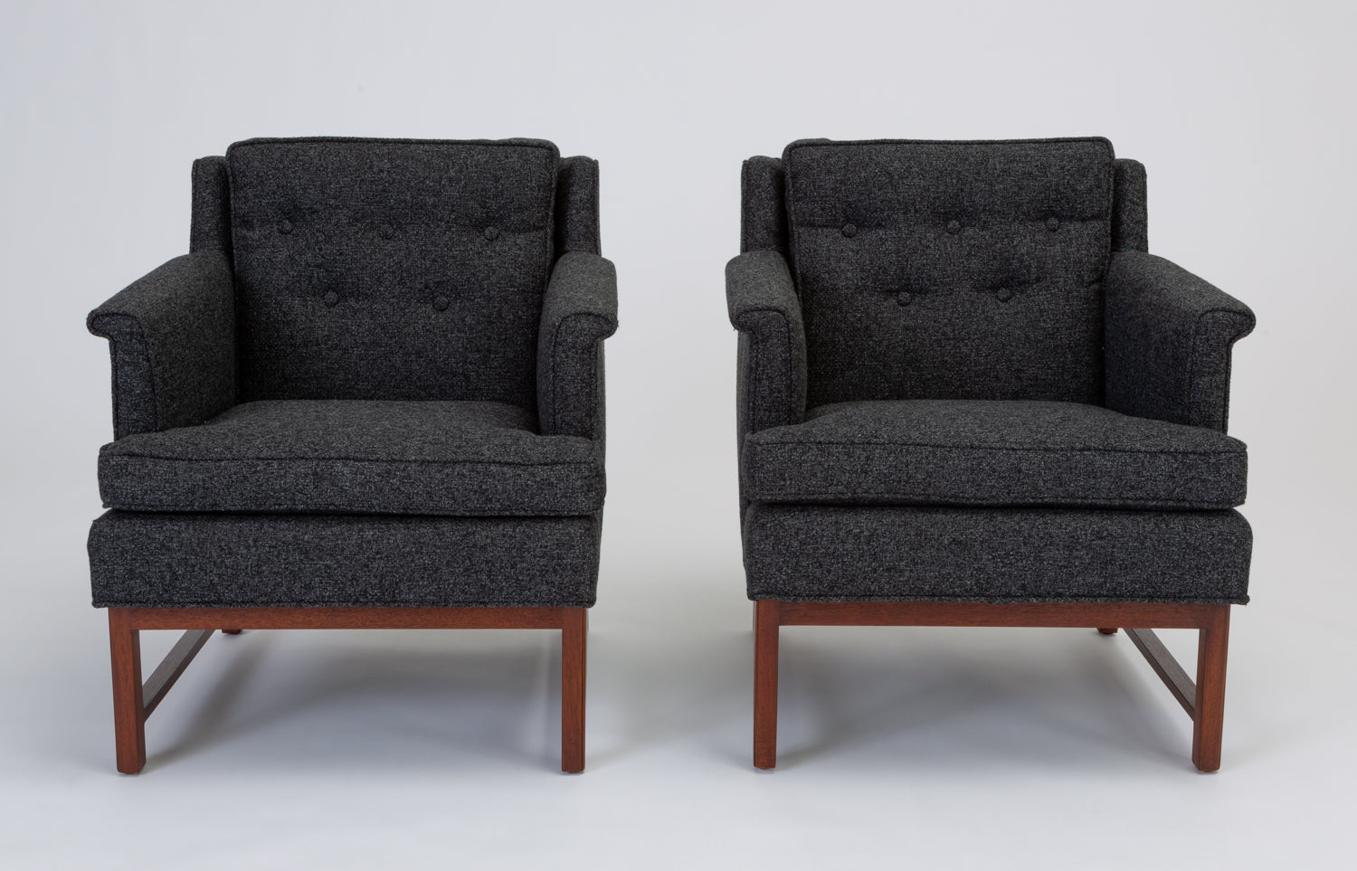 Pair of Petite Lounge Chairs by Edward Wormley for Dunbar