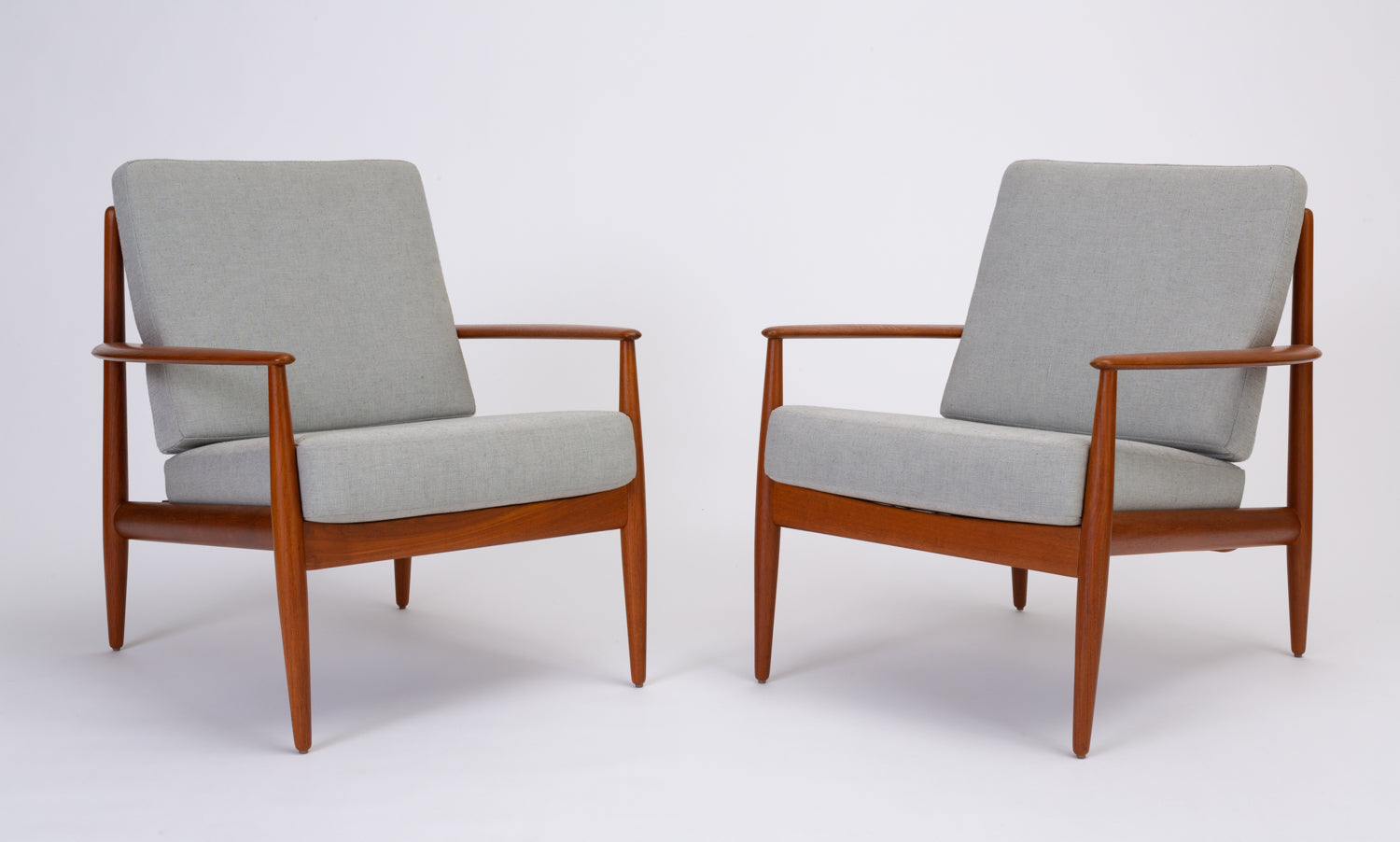 Charmant Pair Of Teak Lounge Chairs By Grete Jalk For France U0026 Son