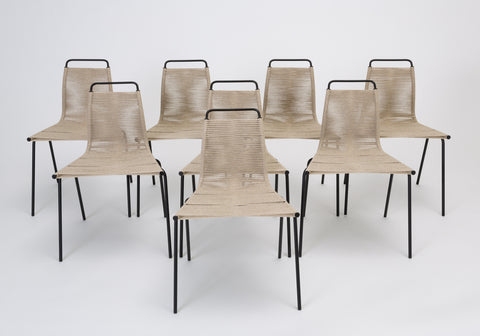 Set of Eight PK-1 Dining Chairs by Poul Kjaerholm