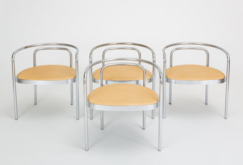 Set of Four PK-12 Dining Chairs by Poul Kaerholm for E. Kold Christensen