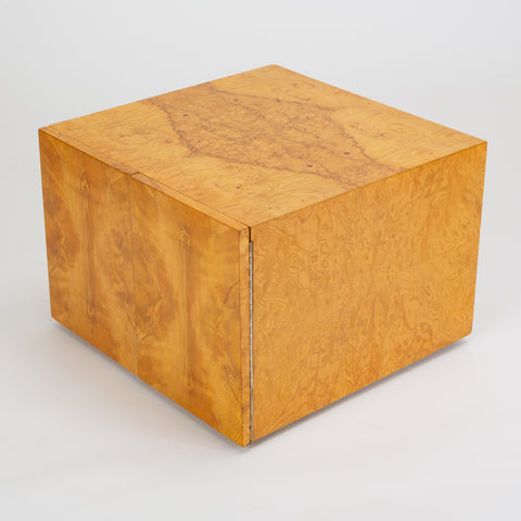 Pair of Burl Wood Side Tables or Blanket Chests