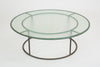 "Walter Lamb 48"" Round Patio Coffee Table with Glass Top"
