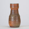 Textured Vase with Brown and Orange Glaze