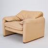 "Leather ""Maralunga"" Chair by Vico Magistretti for Cassina"