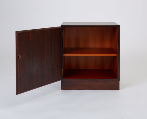 Small Danish Modern Rosewood Cabinet by Omann Jun