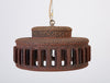 1960s California Studio Pottery Drum-Shaped Pendant Light Fixture