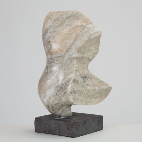 Abstract Marble Sculpture on Stone Mount
