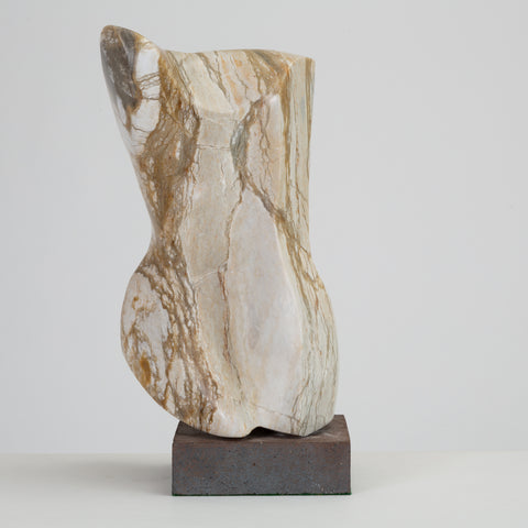 Abstract Torso Sculpture on Stone Mount