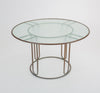 Round Patio Table with Oxidized Bronze Frame by Walter Lamb for Brown Jordan
