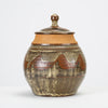 California Modern Studio Pottery Jar with Abstract Pattern by Don Jennings