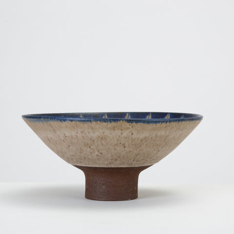 Danish Modern Glazed Stoneware Bowl by Thomas Toft