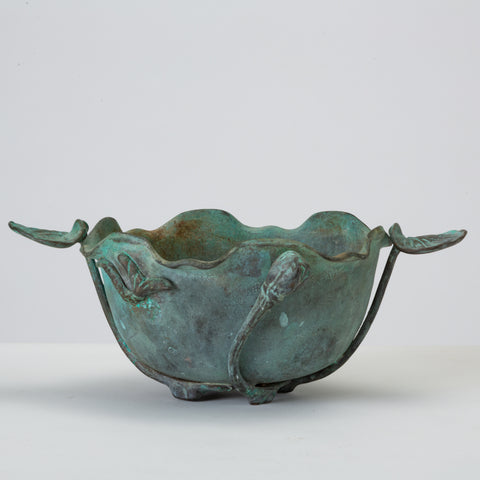 Tiffany Studios Bronze Bowl with Verdigris Finish