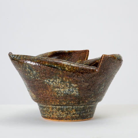 Rolled-Edge Ceramic Bowl