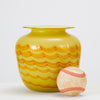 Yellow Combed Glass Vase