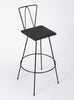 Set of Three Modernist Wire Bar Stools