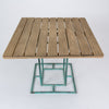 Square Patio Dining Table with Wooden Top by Walter Lamb for Brown Jordan