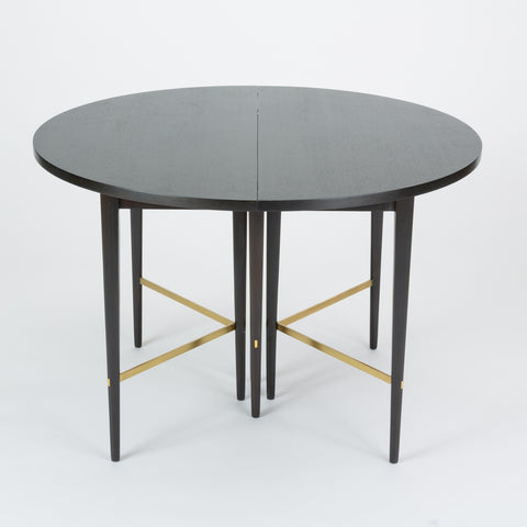 ON HOLD****Ebonized Dining Table with Six Leaves by Paul McCobb for Calvin Furniture