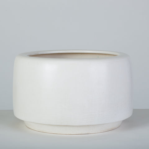 White-Glazed CP-17 Tire Planter by John Follis for Architectural Pottery