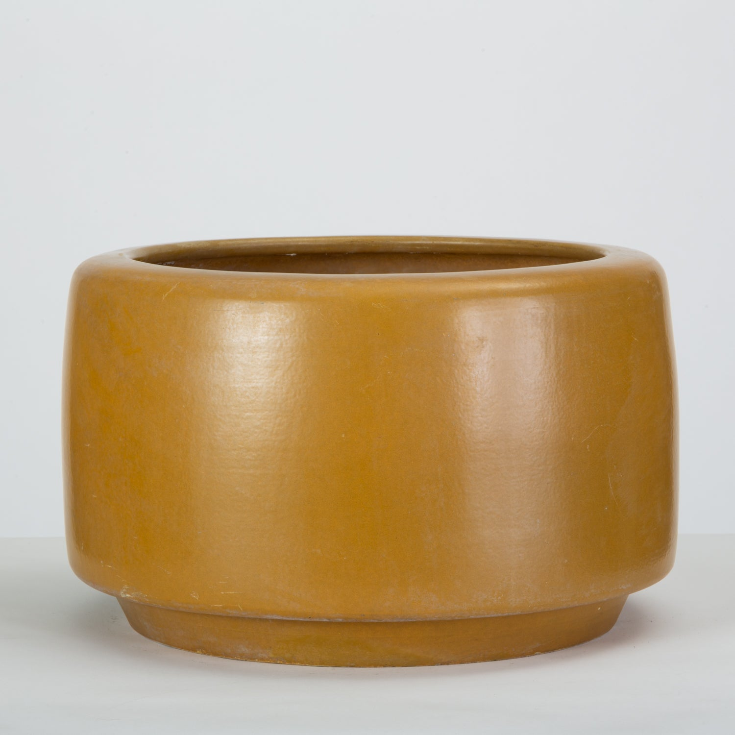 CP-17 Tire Planter by John Follis  for Architectural Pottery in Yellow Ochre Glaze