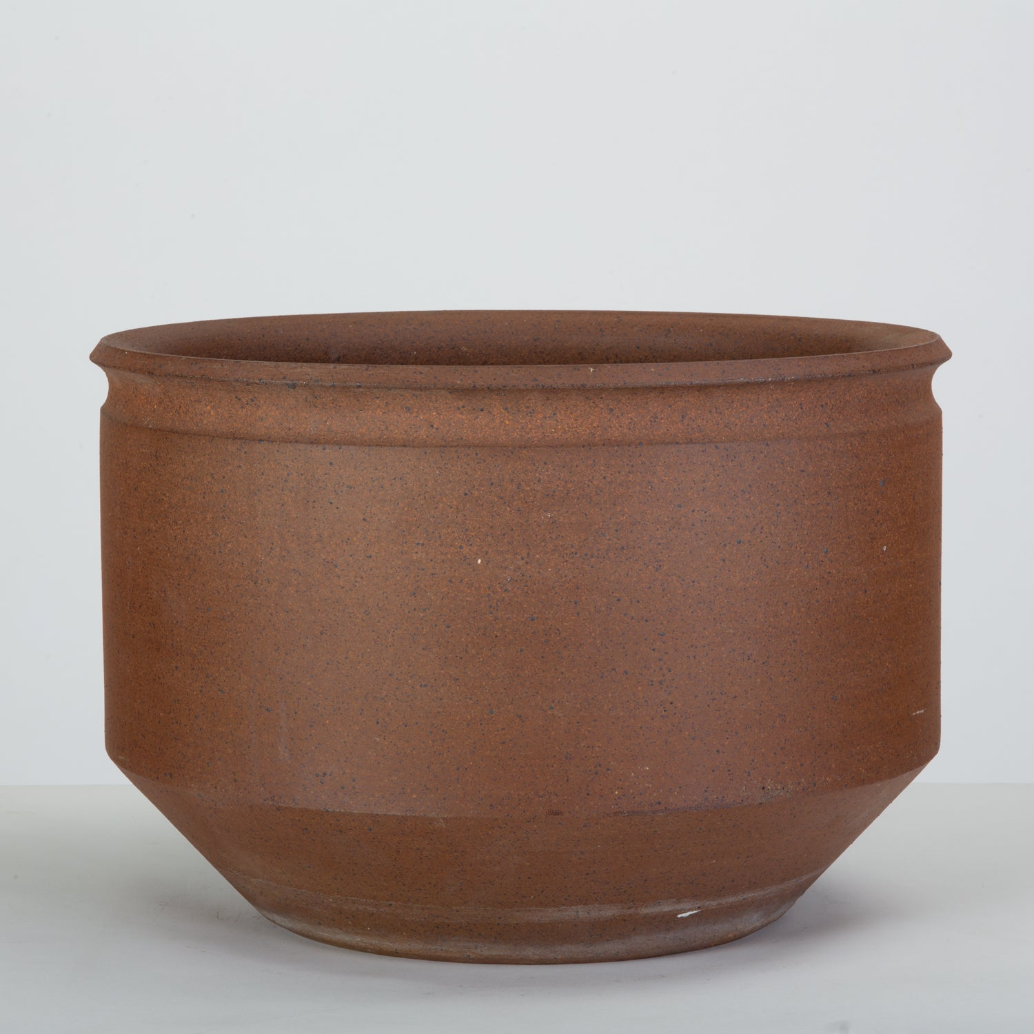 Pair of Unscored Natural Stoneware Planters by David Cressey & Robert Maxwell for Earthgender