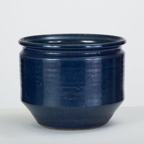 Blue-Glazed Earthgender Bowl Planter by David Cressey and Robert Maxwell