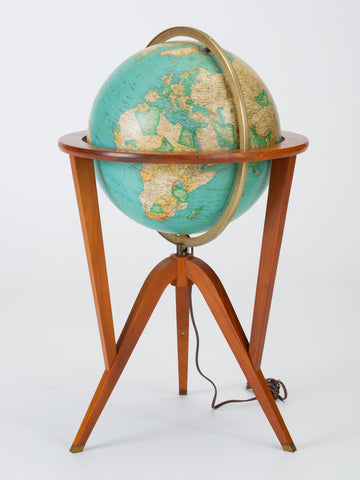 "Rand McNally ""Cosmopolitan"" Globe with Stand by Edward Wormley"
