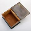 Handmade Copper Box with Painted Geometric Pattern by Craftsman Studios