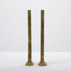 Belgian Modernist Candlesticks in Cast Brass