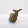 Spanish Modern Whale Paperweight in Oxidized Brass