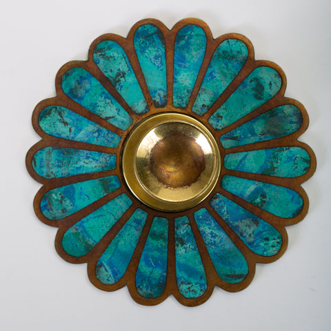 Mexican Modernist Cloisonné Door Knob Plates by Pepe Mendoza