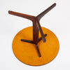 Round Rosewood Side Table with Laminate Top by Hans Andersen for Artex