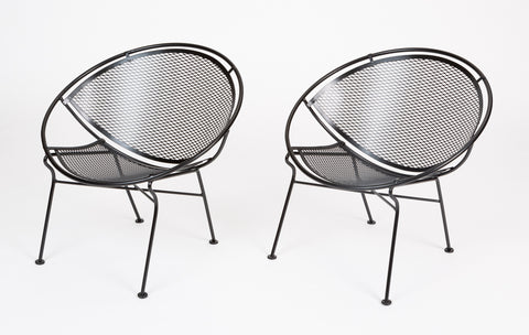 "Pair of ""Radar"" Lounge Chairs by Maurizio Tempestini for Salterini"