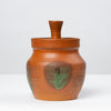 Rust Red Studio Pottery Jar with Lid