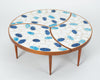 Three-Piece Round Coffee Table with Ceramic Tile Top