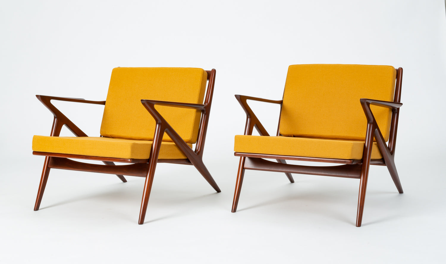 Pair of Z Chairs by Poul Jensen for Selig
