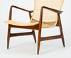 Lounge Chair with Cane Seat by Ib Kofod-Larsen for Selig